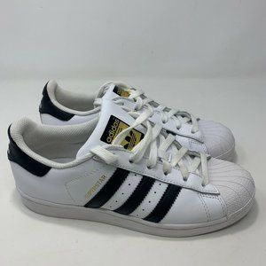 Adidas Superstar Womens White And Black Low Sz 6